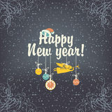 Christmas card with night winter Stock Photo