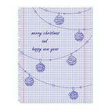 Christmas card in notebook Stock Images