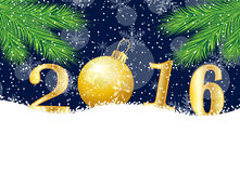 Christmas card with numbers 2016 Stock Image