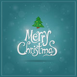 Christmas card with objects and text Royalty Free Stock Photos