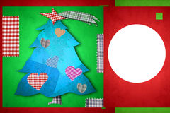 Christmas card with one photo frame Stock Images