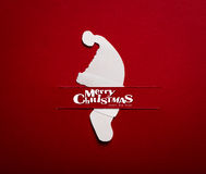 Christmas card with origami Christmas decoration. Royalty Free Stock Image