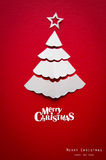 Christmas card with origami Christmas decoration. Royalty Free Stock Images