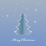 Christmas card origami Christmas tree Royalty Free Stock Photography