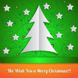 Christmas card in origami style. Stock Images