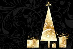 Christmas card with an ornament, vector Royalty Free Stock Photography