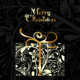 Christmas card with an ornament, vector Royalty Free Stock Photo