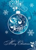 Christmas card with an ornament, vector Royalty Free Stock Images