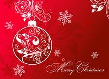 Christmas card with an ornament, vector Royalty Free Stock Photos