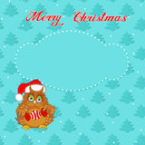 Christmas card with owl Royalty Free Stock Photography