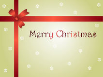 Christmas card parcel with ribbon Royalty Free Stock Image