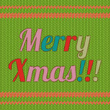 Christmas card with in patchwork style. Royalty Free Stock Photos