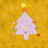 Christmas card pattern Royalty Free Stock Images
