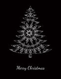 Christmas card with pattern on black Royalty Free Stock Photography