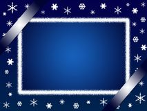 Christmas card or photo frame stock image