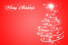 Christmas Card. Photoshop generated graphic card in red Royalty Free Stock Image