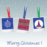 Christmas card with pictures Royalty Free Stock Image