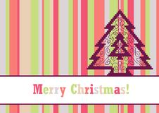 Christmas card with pine Royalty Free Stock Photo