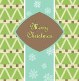 Christmas card with pines Royalty Free Stock Photography