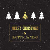 Christmas Card with Pines. Vector illustration of a Christmas Card with Pines Royalty Free Stock Photos