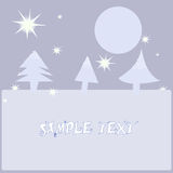 Christmas card with place for text Stock Images