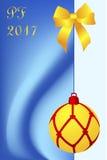 Christmas card with Pour Feliciter congrats Stock Photo
