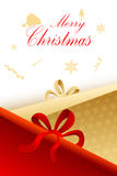 Christmas card with present Royalty Free Stock Photography