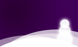 Christmas card in purple royalty free illustration