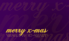 Christmas card in purple - merry x-mas Royalty Free Stock Image
