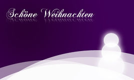 Christmas card in purple - Schöne Weihnachten Stock Images