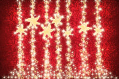 Christmas card on red background Royalty Free Stock Photography