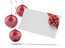 Christmas Card with red Balls Royalty Free Stock Images