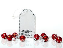 Christmas card, red balls Royalty Free Stock Images