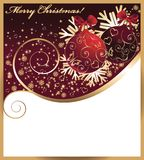 Christmas card with a red balls. vector Royalty Free Stock Photography