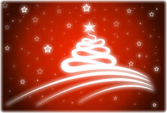 Christmas card in red color Stock Photography