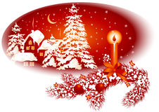 Christmas card red color Royalty Free Stock Images