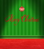 Christmas Card Red and Green Room Stock Photos