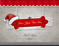 Christmas card with red hat. Stock Images