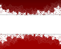 Christmas card red. Christmas and New Years red background with paper snowflakes. vector illustration Stock Photography