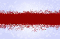 Christmas card. With red snowflakes Stock Images