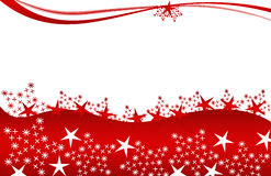 Christmas card red stars Royalty Free Stock Photo