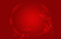 Christmas card red, stars and flowers Royalty Free Stock Images
