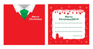 Christmas card red suite design Royalty Free Stock Images