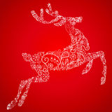 Christmas card reindeer Royalty Free Stock Image