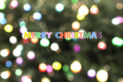 Christmas card colorful blur bokeh Stock Images