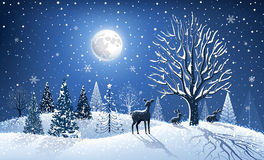 Christmas card with reindeer stock illustration