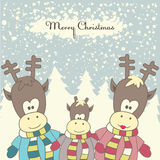 Christmas card with Reindeer. Vector illustration Stock Photos