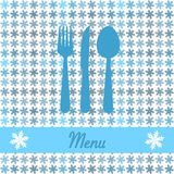 Christmas card for restaurant menu Stock Photo