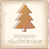 Christmas card. Retro look brown colored christmas card Stock Photography