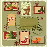 Christmas Card. Retro Style Stock Photos
